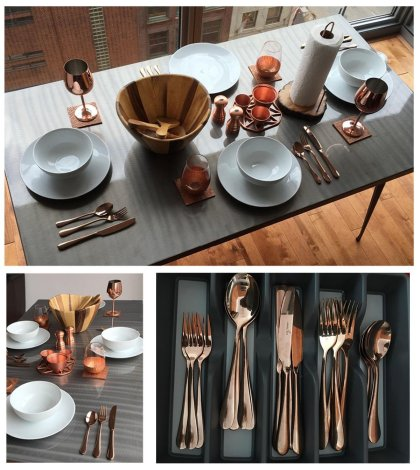 Rose Gold Flatware makes a cheap yet elegant Christmas present.